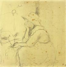 Morisot, Ragazza che da da mangiare a una capra.png