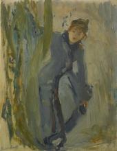 Morisot, Ragazza che si rimette il pattino.jpg