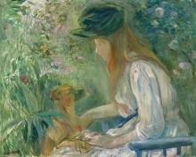 Morisot, Ragazza con il cane.jpg