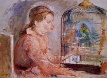 Morisot, Ragazza con il parrocchetto.jpg