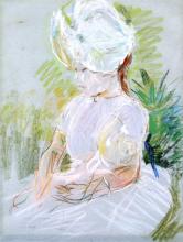 Morisot, Ragazza con la cappellina bianca.png