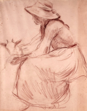 Morisot, Ragazza con la capra.png