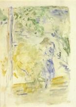Morisot, Ragazza in blu in riva al lago.jpg