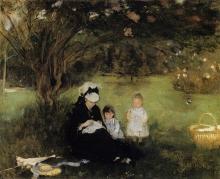 Morisot, Sotto i lilla a Maurecourt.jpg