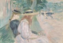 Morisot, Su una panchina al Bois de Boulogne.jpg