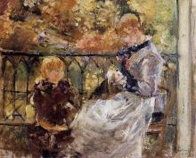 Morisot, Sul balcone della camera di Eugene Manet a Bougival.jpg