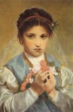 Nono, Bambina velata con fiori   Veiled little girl with flowers