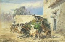 Filippo Palizzi, Il pasto delle caprette
