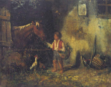 Filippo Palizzi, Interno di stalla