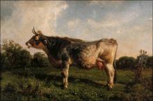 Filippo Palizzi, Mucca in un prato