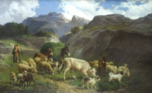 Palizzi Filippo, Pastore con armenti