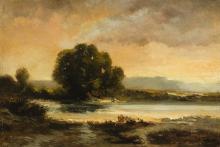 Alberto Pasini, Paesaggio con uno stagno | Landscape with a pond
