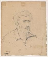 Pissarro Camille, Autoritratto, di tre quarti verso destra [verso]