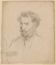 Pissarro Camille, Autoritratto, di tre quarti verso sinistra [recto]
