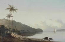 Pissarro Camille, Baia con barca a vela   Crique avec voilier   Cove with sailboat