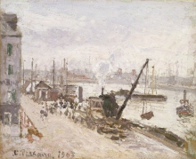Camille Pissarro, Banchina a Le Havre | Quayside at Le Havre