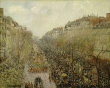 Pissarro Camille, Boulevard Montmartre, martedì grasso | Boulevard Montmartre, mardi gras | Boulevard Montmartre, Shrove Tuesday