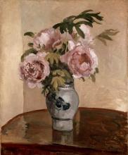 Camille Pissarro, Bouquet di peonie rosa | Bouquet of pink peonies