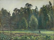 Pissarro Camille, Campo di cavoli, Pontoise | Champ de chou, Pontoise | Field of cabbages, Pontoise | Campo de coles, Pontoise