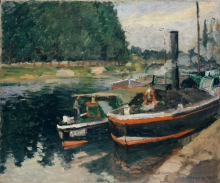 Pissarro Camille, Chiatte a Pontoise.jpg