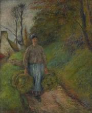 Pissarro Camille, Contadina che porta due fasci di fieno.jpg