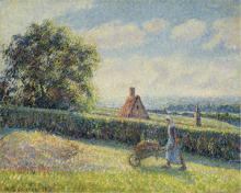 Pissarro Camille, Donna che spinge una carriola.png