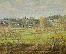 Pissarro Camille, Febbraio, alba, Bazincourt | Février, soleil levant, Bazincourt | February, sunrise, Bazincourt