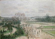 Camille Pissarro, I giardini delle Tuileries, tempo piovoso | The Tuileries gardens, rainy weather