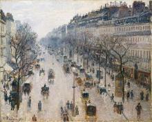 Pissarro Camille, Il Boulevard Montmartre in un mattino invernale.jpg