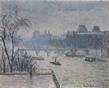 Pissarro Camille, Il Louvre, effetto di pioggia.jpg