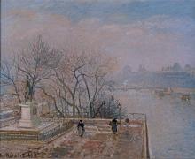 Pissarro Camille, Il Louvre, mattino brumoso.jpg