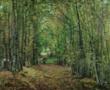 Pissarro Camille, Il bosco di Marly | Le bois de Marly | The woods at Marly | El bosque de Marly