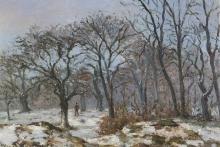 Pissarro Camille, Il bosco di castagni in inverno, Louveciennes | Le bois de châtaigniers en hiver, Louveciennes | The chestnut wood in winter, Louveciennes