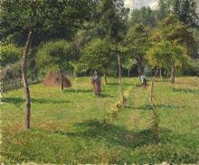 Pissarro Camille, Il frutteto a Eragny   Le verger à Eragny   The orchard at Éragny   El huerto en Éragny