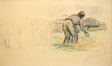 PIssarro Camille, Il seminatore | Le semeur | The sower