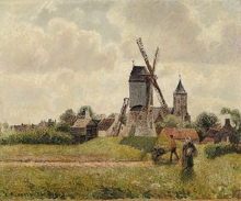 Pissarro Camille, Il vecchio mulino a Knokke | Le vieux moulin à Knokke | The old mill in Knokke