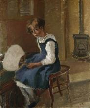 Camille Pissarro, Jeanne con ventaglio | Jeanne holding a fan