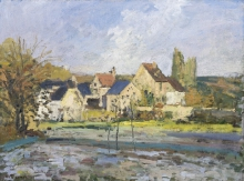 Pissarro Camille, L'Hermitage a Pontoise | L'Hermitage à Pontoise