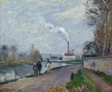 Pissarro Camille, L'Oise a Pontoise, tempo grigio.jpg