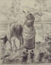 Pissarro Camille, L'abbeveratoio di Montfoucault | L'abreuvoir de Montfoucault | The watering place of Montfoucault