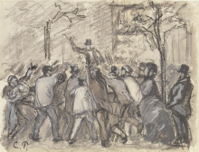 Pissarro Camille, La rivolta urbana a Parigi.png