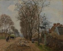Pissarro Camille, La strada di Saint Germain a Louveciennes.jpg