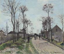 Pissarro Camille, La strada di Saint Germain, Louveciennes [1870 circa].png