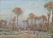 Pissarro Camille, La strada per Versailles, Louveciennes- gelo mattutino.jpg