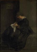 Camille Pissarro, Madame Pissarro che cuce | Madame Pissarro sewing