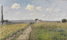 Pissarro Camille, Mattina di giugno a Pontoise | Matin de juin à Pontoise | June morning in Pontoise | Junimorgen bei Pontoise