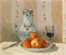 Pissarro Camille, Natura morta con mele e brocca.jpg