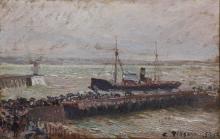 Pissarro Camille, Nave che entra nel porto di Le Havre.png