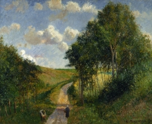 Pissarro Camille, Paesaggio a Berneval | Paysage à Berneval, après midi | Landscape at Berneval, in the afternoon