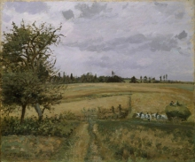 Camille Pissarro, Paesaggio a Pontoise | Landscape at Pontoise